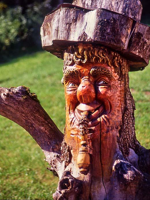 Autriche, St-Wolfgang, sculpture sur bois