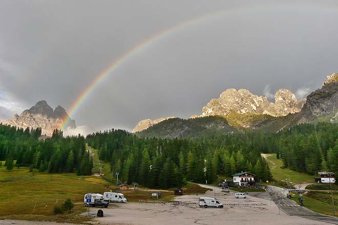 Dolomites, Arc-en-ciel