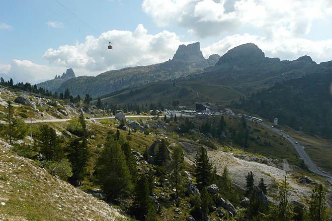 les Cinque Torri et le mont Averau