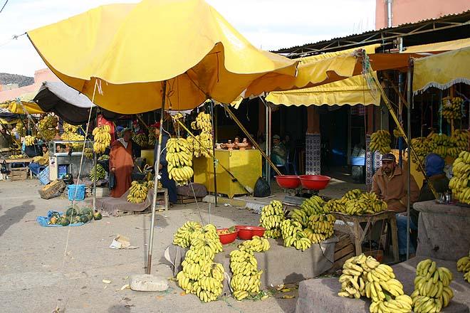 Maroc, vente de bananes