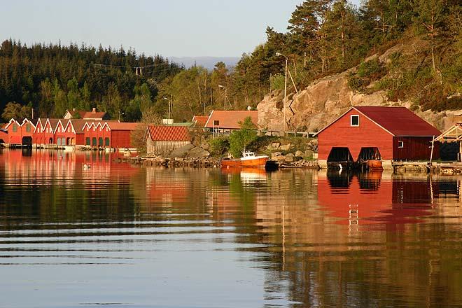 Norvege Snig_abris_bateaux
