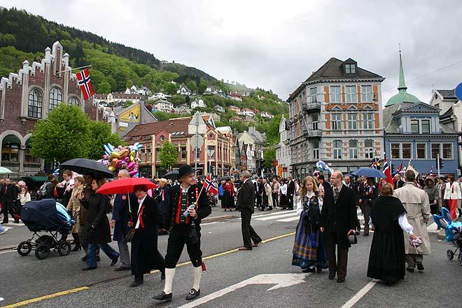Norvege, Bergen, fête nationale