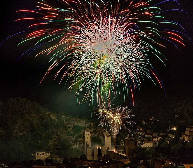 Cahors, feu d'artifice